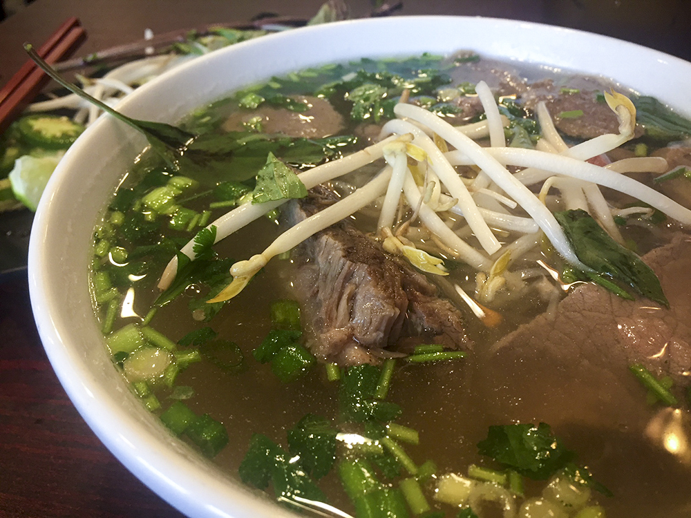 Pho Lodge's Beef Pho // Photo by James Norton