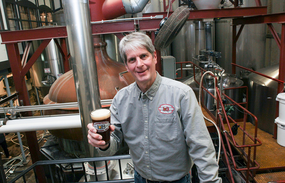 Russ Klisch in the brewery // Photo courtesy Lakefront Brewery Incorporated