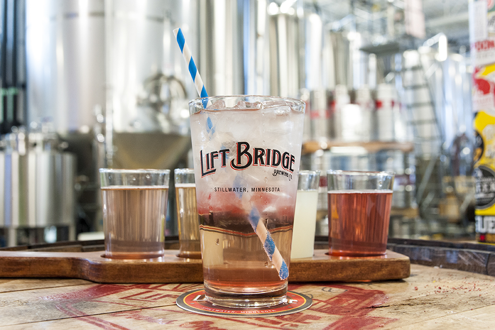 Lift Bridge Brewing Company's Hard Seltzer // Photo by Brian Kaufenberg