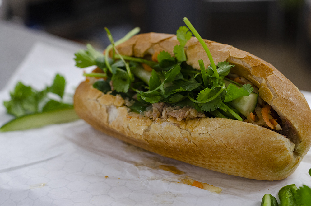 The BBQ Pork Banh Mi at Little Saigon Supermarket // Photo by Aaron Job