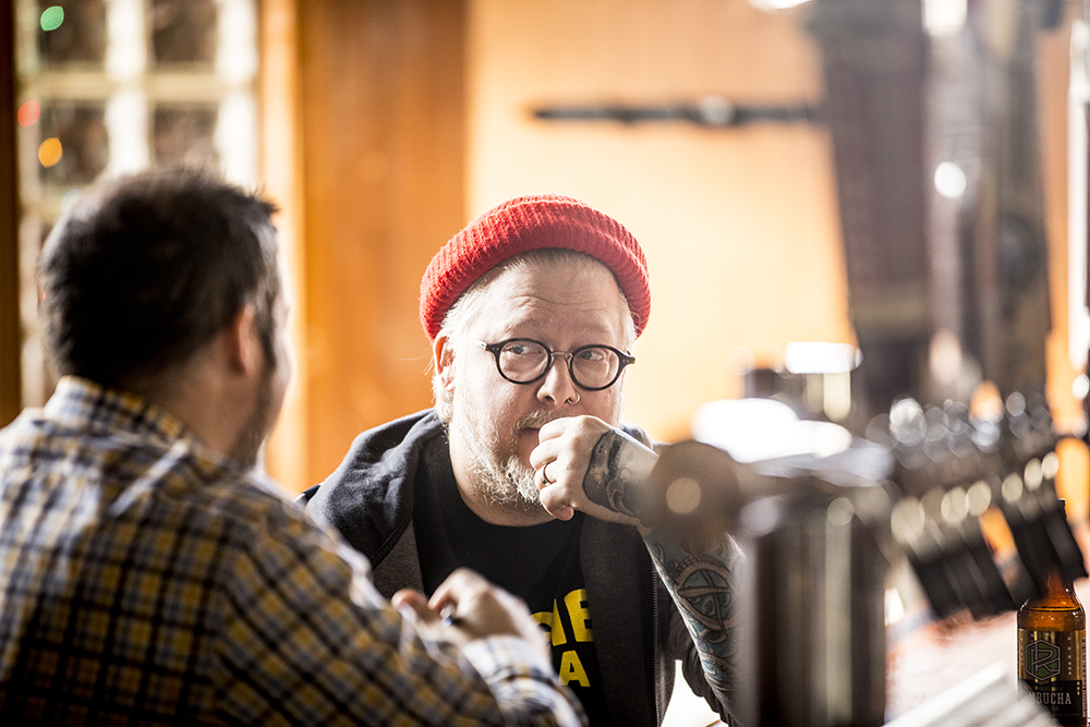 Flicker with writer James Norton in the Bull's Horn // Photo by Tj Turner