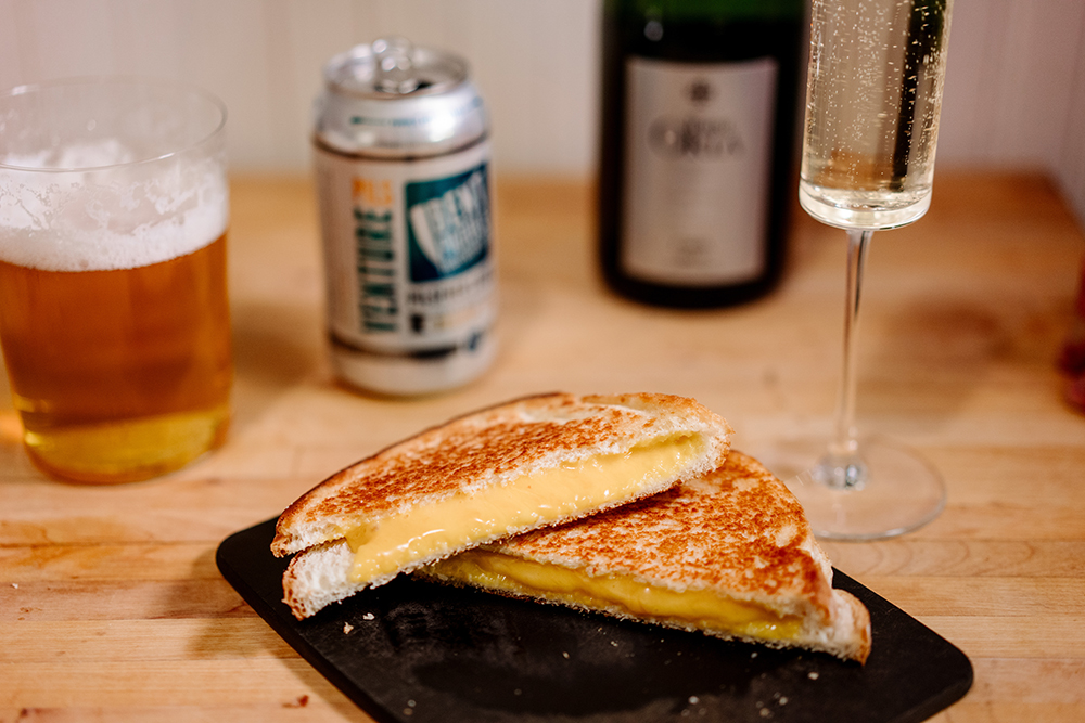 A grilled cheese sandwich made using the American cheese from this recipe // Photo by Becca Dilley