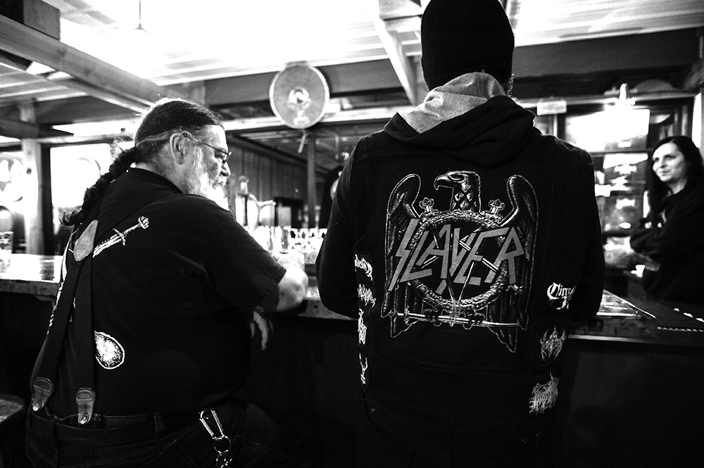 Some of the brewery's patrons at the bar // Photo by Daniel Murphy