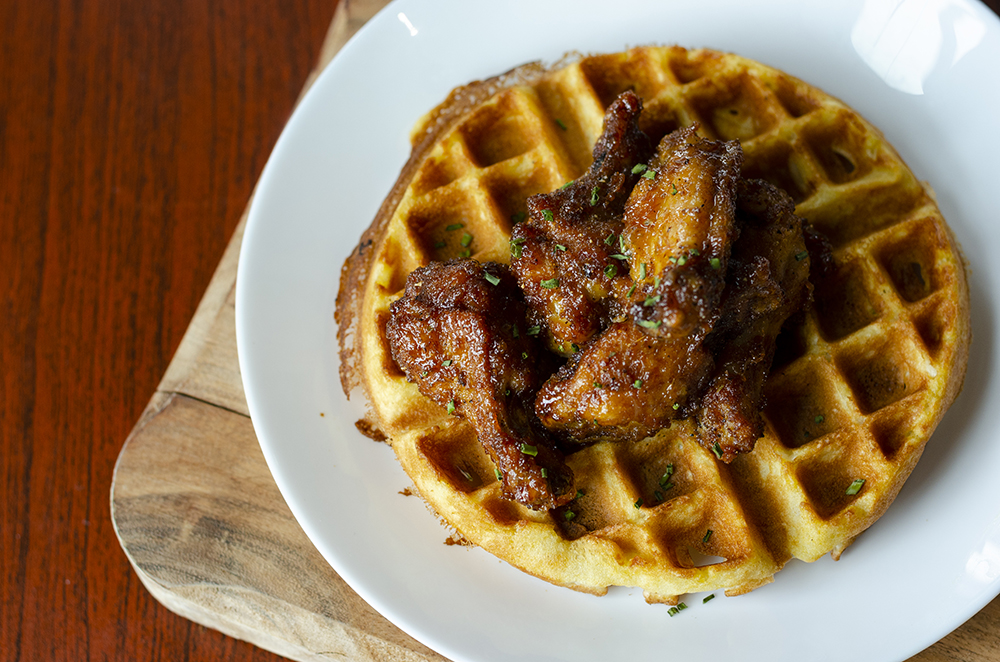 Chicken and Waffle at Heritage Tea House and Cafe // Photo by Aaron Job
