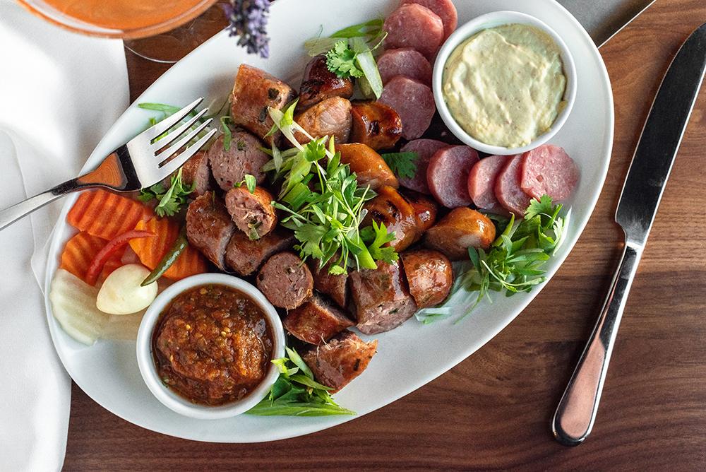 The sausage platter at Lat14 // Photo by Kevin Kramer