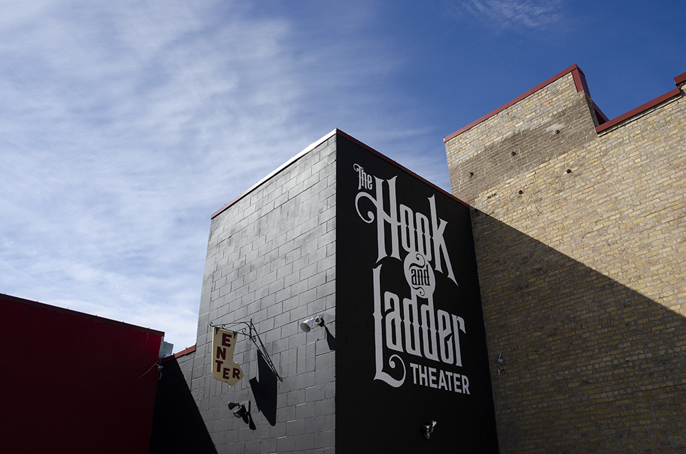 The Hook and Ladder Theater, which Phil painted in 2017 // Photo by Aaron Job