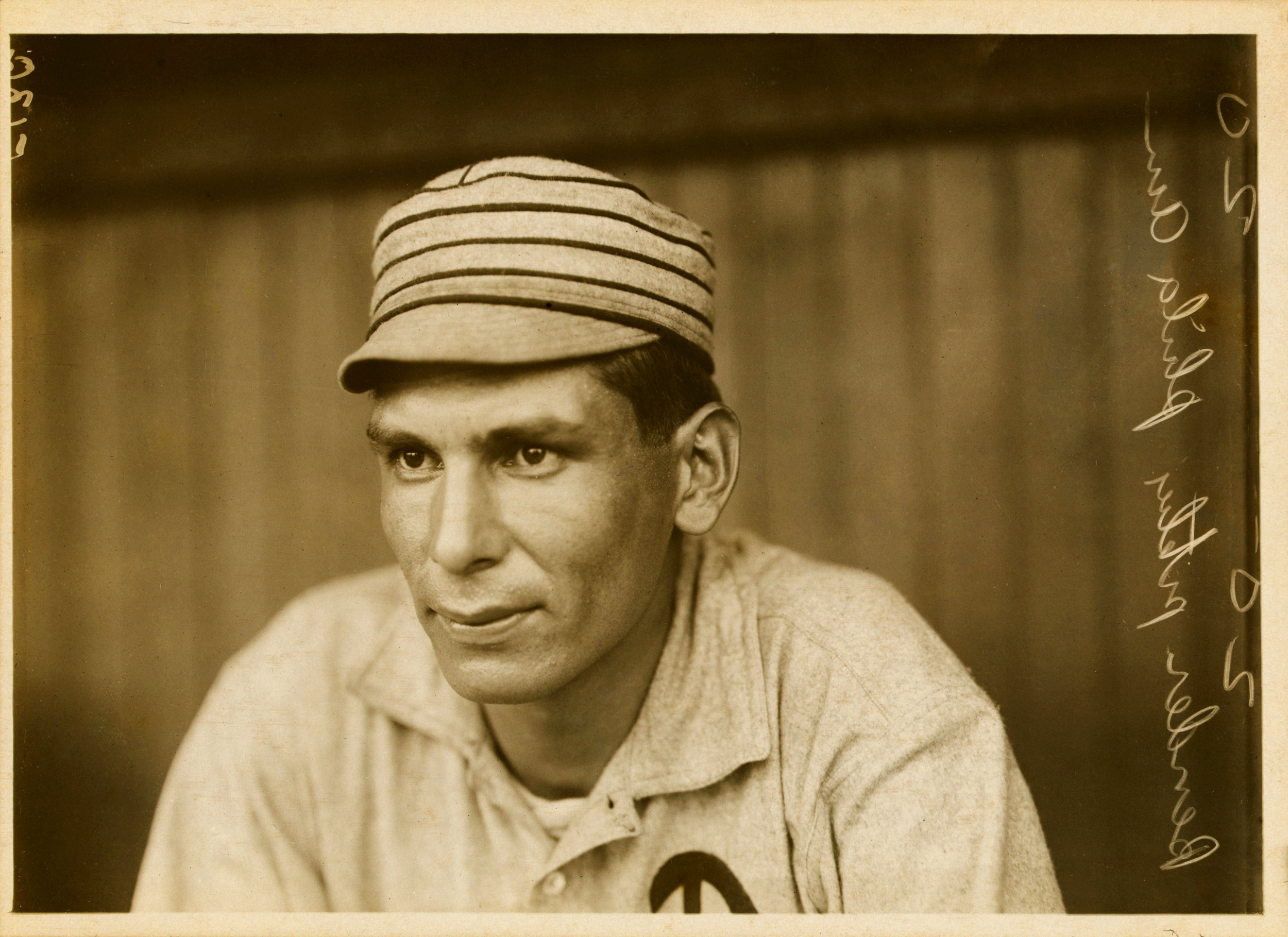 Charles Albert Bender, the first Minnesotan inducted to the National Baseball Hall of Fame and the inventor of the slider (Yep, we said it!) // Photo by Paul Thompson, 1911