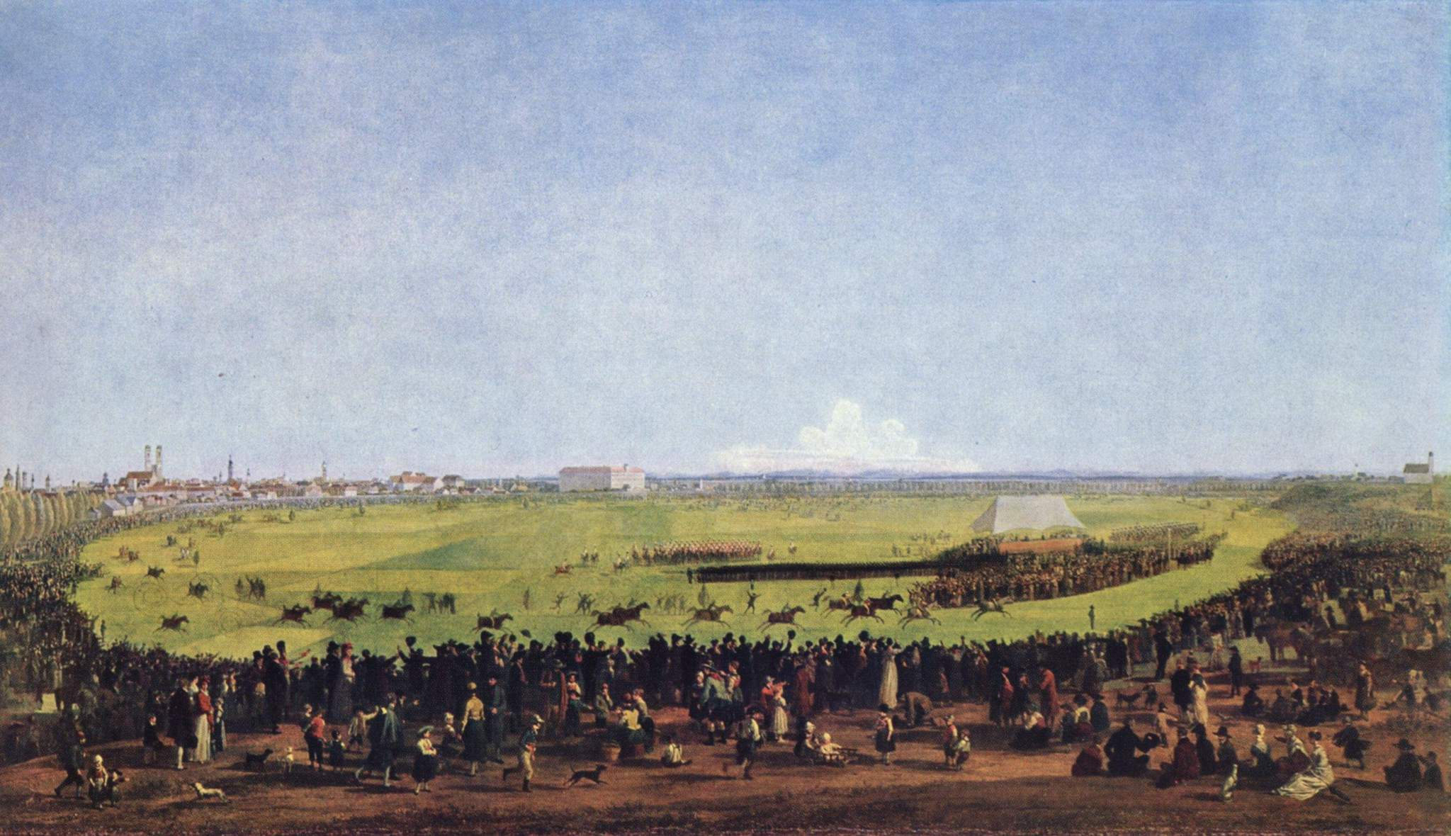 The first horse race on the Theresienwiese in Munich on 17 October 1810 (first Oktoberfest) // Painting by Wilhelm Alexander Wolfgang von Kobell