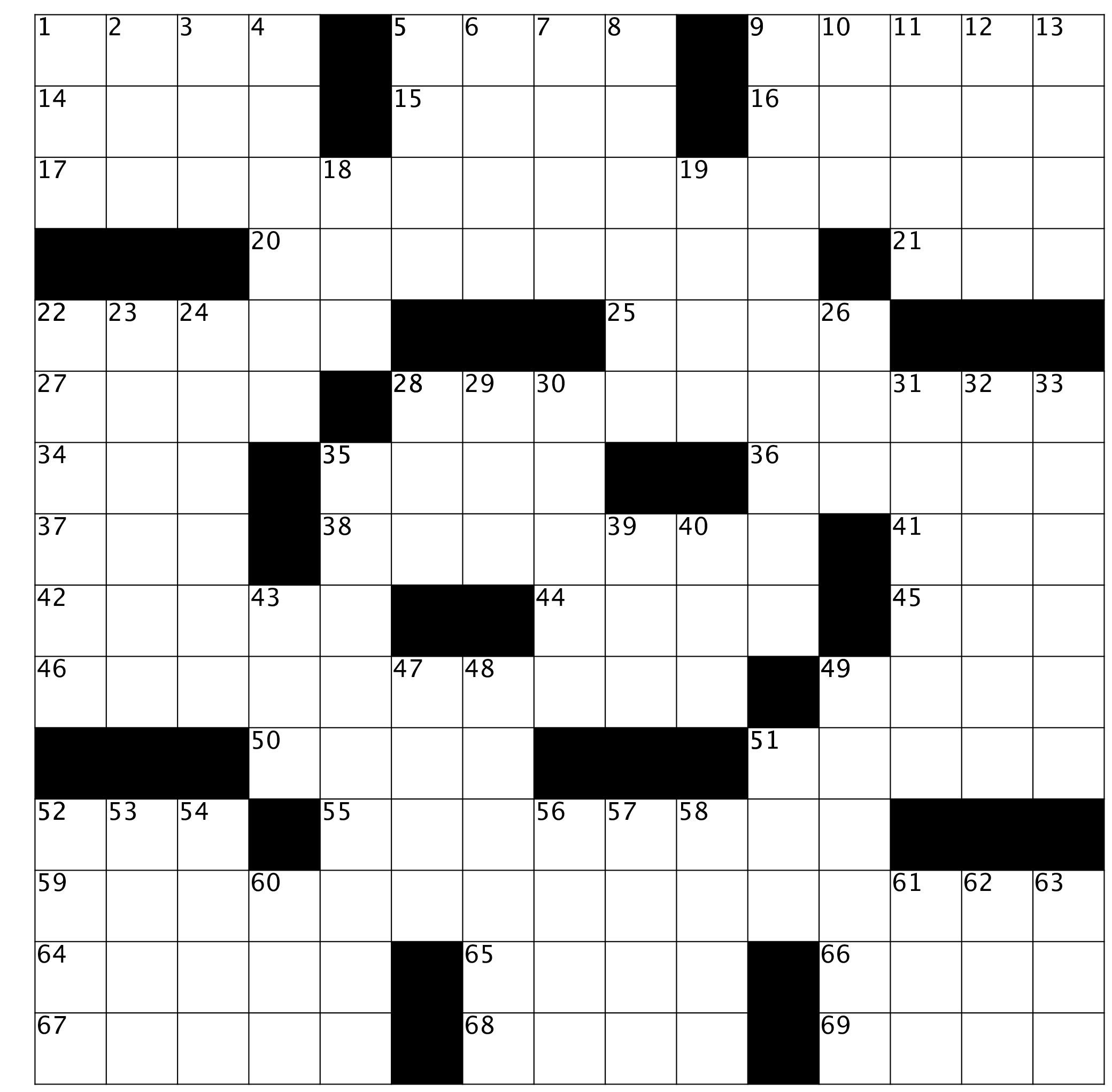 Crossword Puzzle Issue 72 October 2019 Double Feature