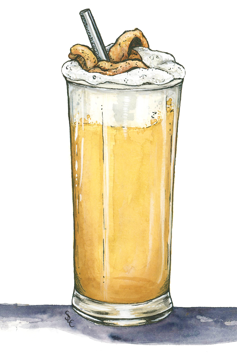 The Chicken Fizz from the Hasty Tasty // Illustration by stace of spades