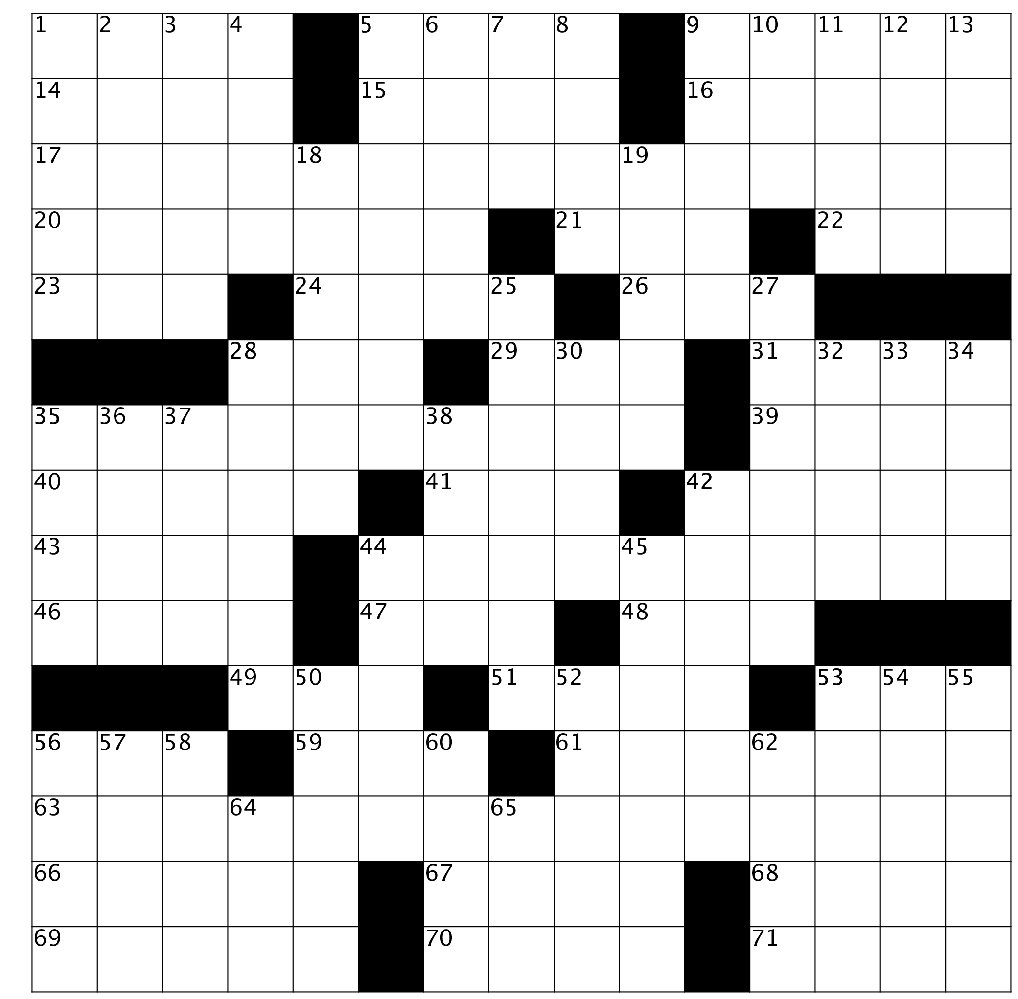 Crossword Puzzle Issue 76 February 2020 Both Sides Now