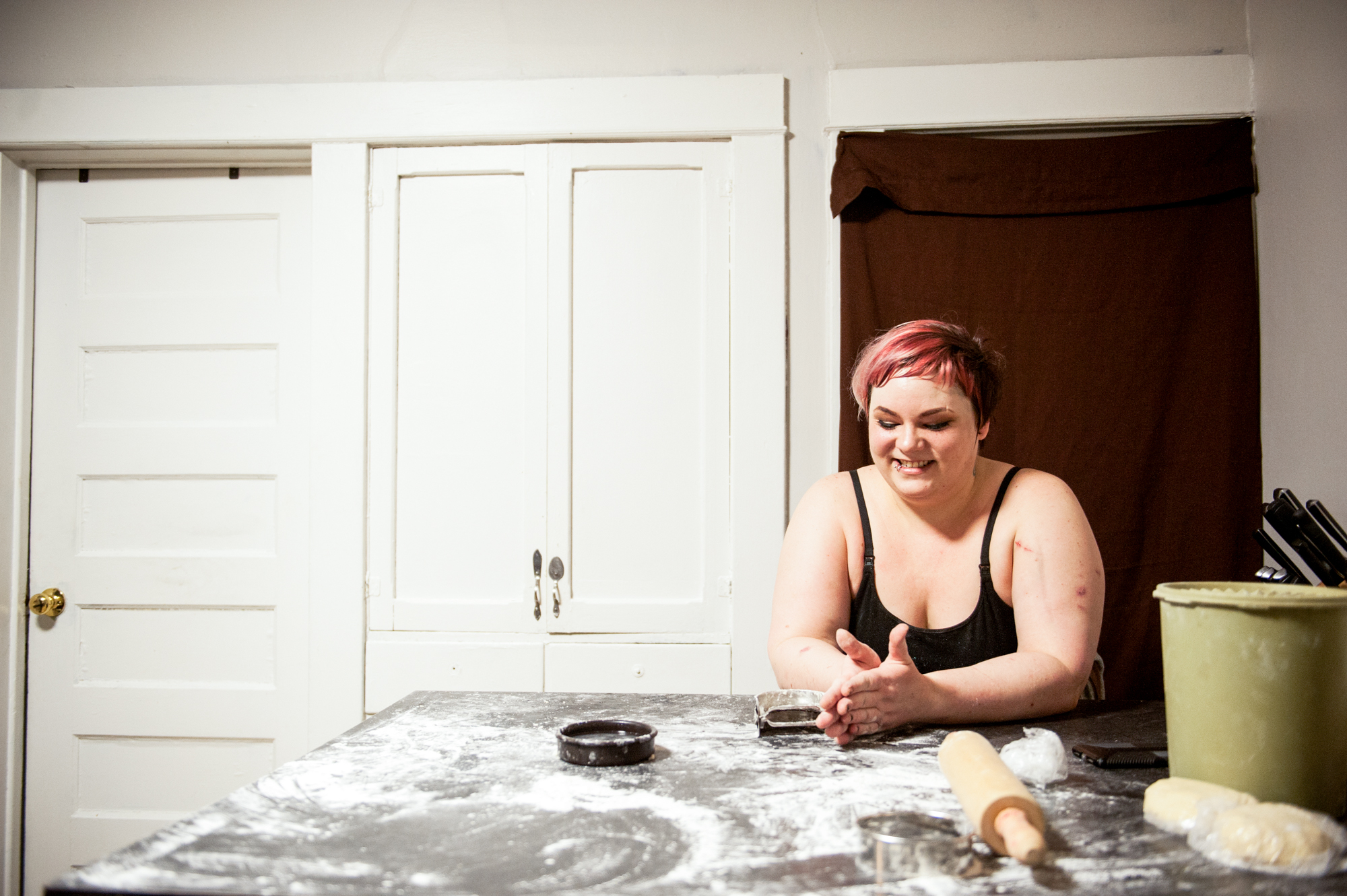 Emily Rose Pormann, who runs Emma's Pierogis on Facebook Marketplace // Photo by Daniel Murphy