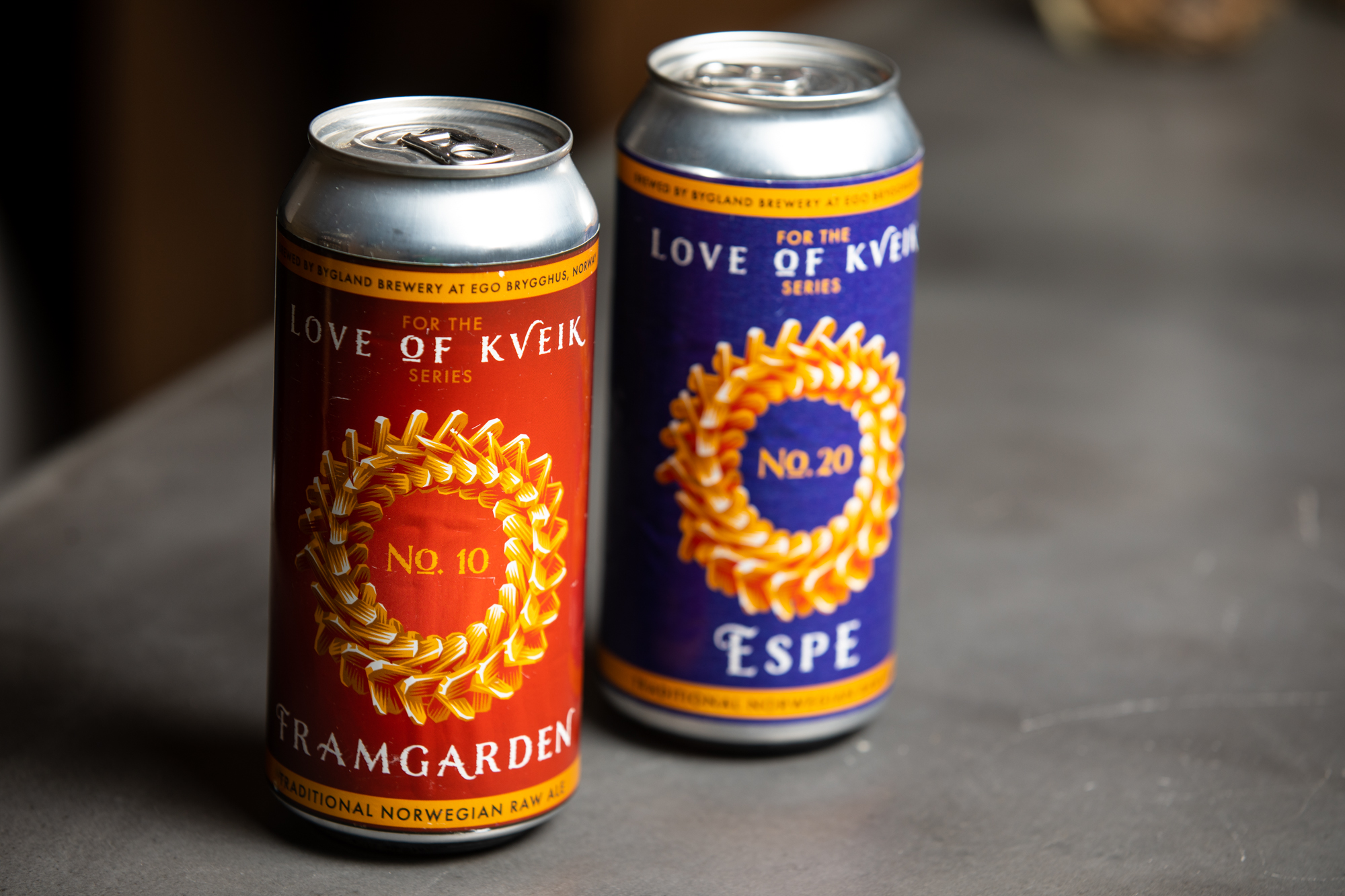 Two Norwegian farmhouse-style beers from Norway using kveik // Photo by Tj Turner, beer courtesy Chip Walton, Chop & Brew