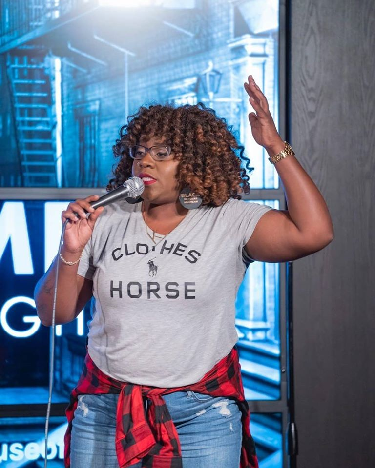 Khadijah Cooper performs at House of Comedy // Photo via House of Comedy