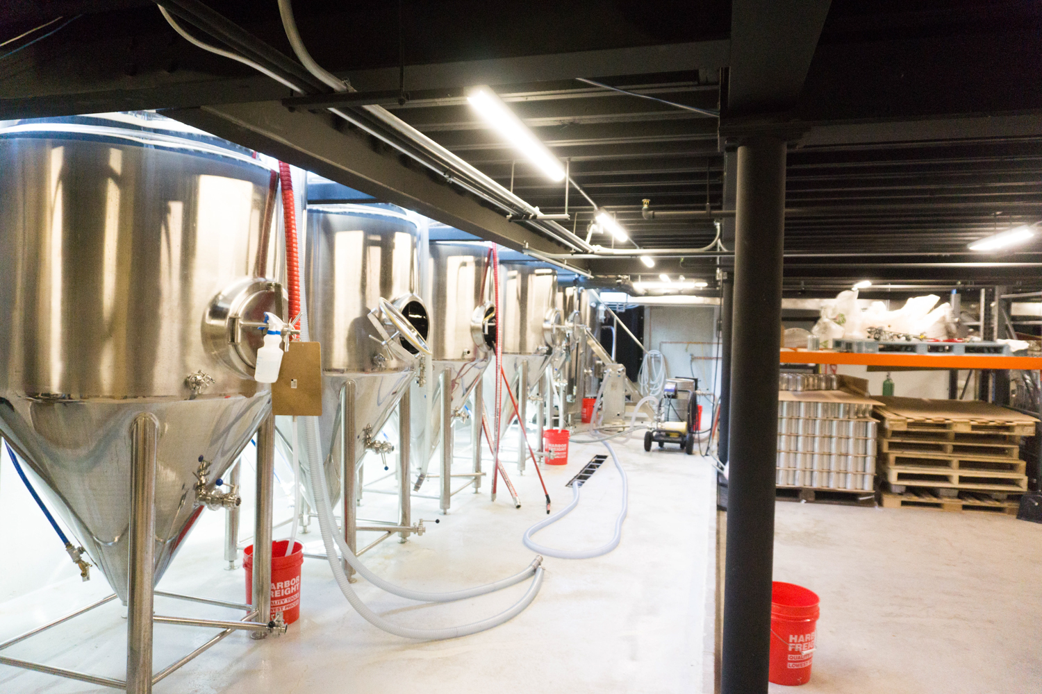 Fermentors at Swing Barrel Brewing Co. in Moorhead // Photo by Nolan Schmidt
