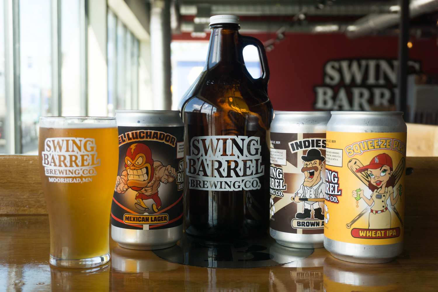 Swing Barrel Brewing Co. in Moorhead opened in late May // Photo by Nolan Schmidt