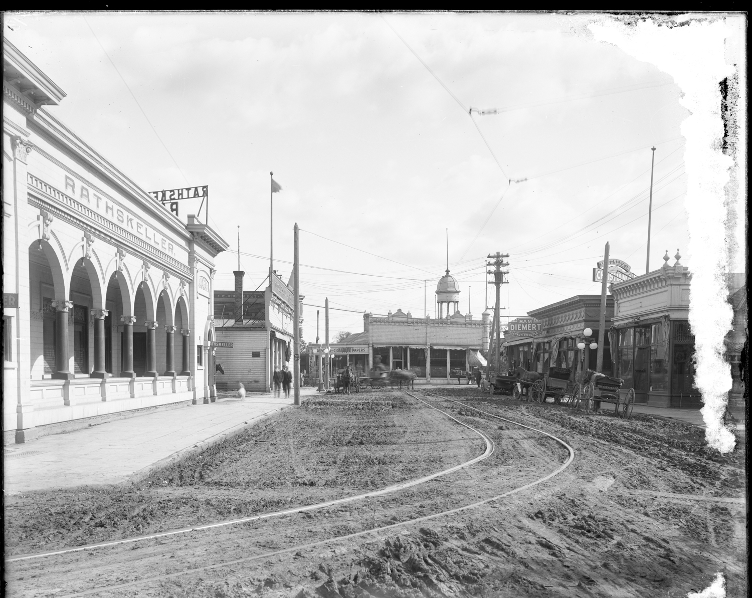 Moorhead's Saloon District, ca. 1912 // Photo courtesy Historical and Cultural Society of Clay County