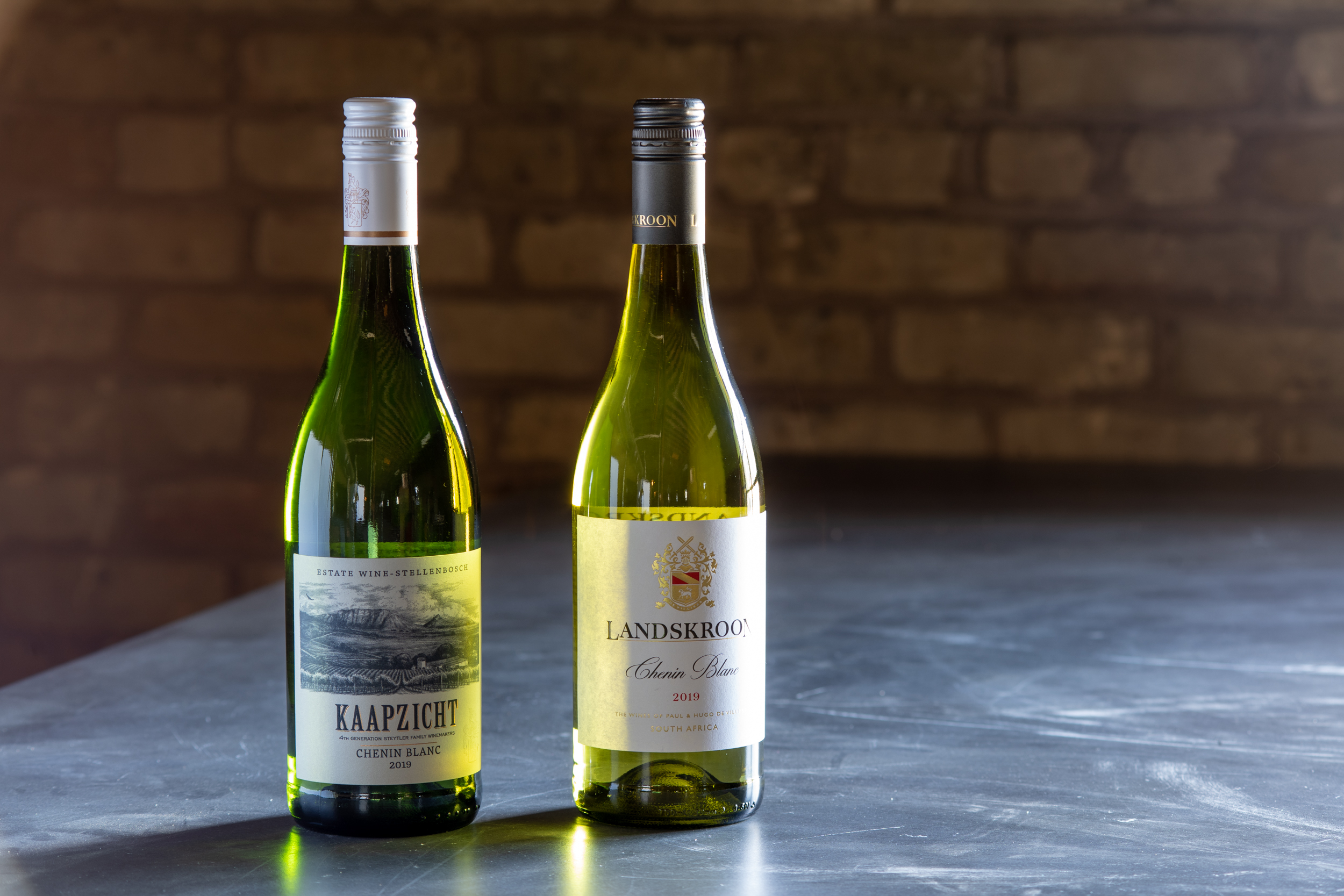 Kaapzicht Chenin Blanc ($12) and Landskroon Chenin Blanc ($11) // Photo by Tony Saunders