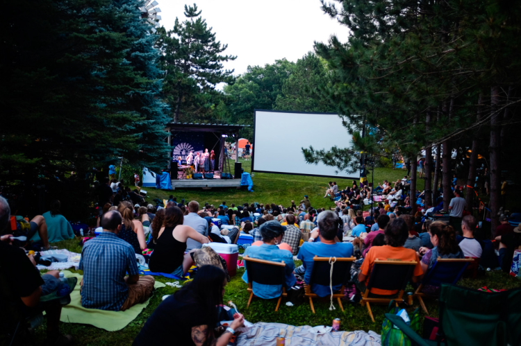 Attendees gather on the hill at Square Lake Music & Film Festival 2014 // Photo by Nate Ryan, MPR
