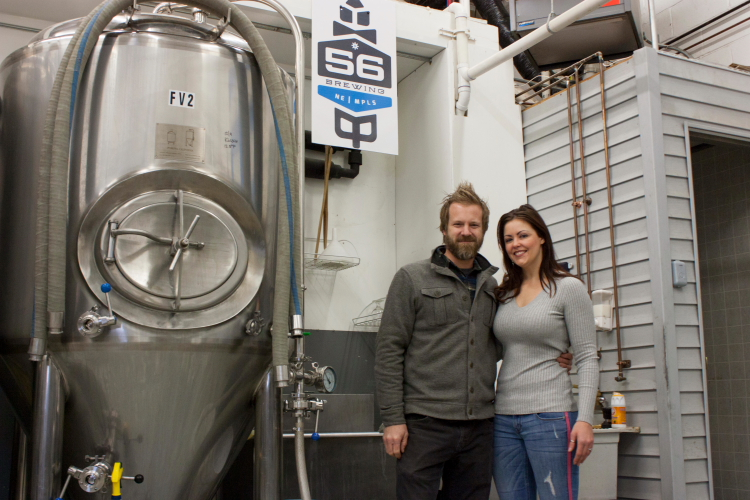 Kale and Kerry Johnson of 56 Brewing // Photo by Brian Kaufenberg