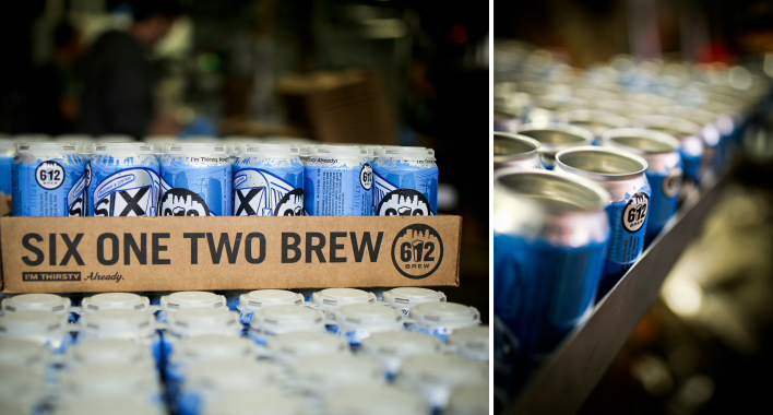 612Brew Canning Line // Photo by Aaron Davidson
