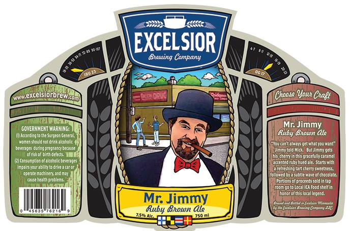 Excelsior Mr. Jimmy Ruby Brown Ale // Courtesy of Excelsior Brewing Company