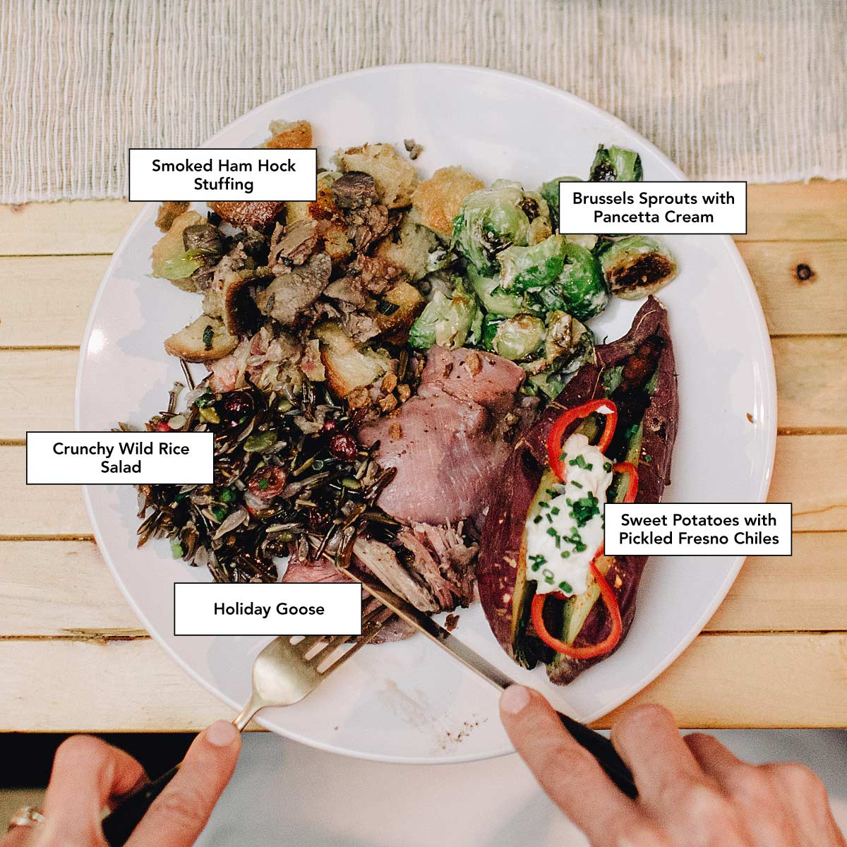 The ultimate holiday plate, Photo by Matt Lien // Growler Magazine