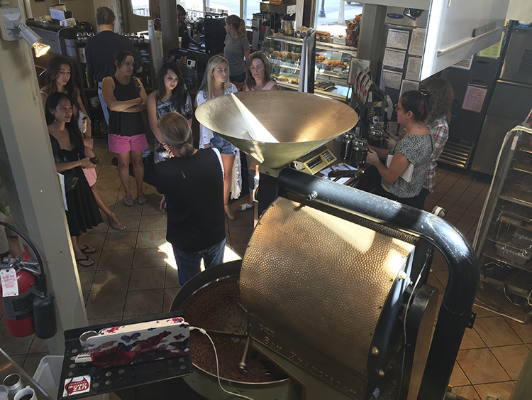 The roaster at Dunn Brothers' Freight House location // Photo courtesy of Dunn Brothers