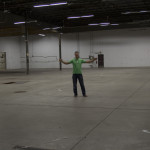 Fulton Brewing's Co-Owner on the future production floor of the new facility // Photo by Brian Kaufenberg