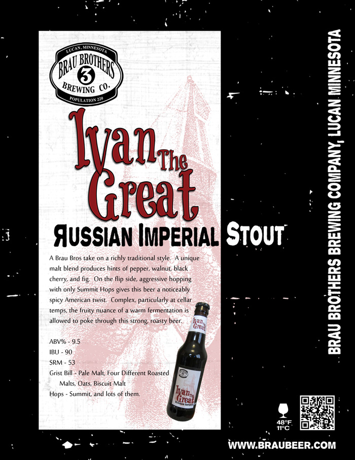 Brau Brothers Ivan the Great Russian Imperial Stout // Courtesy of Brau Brothers Brewing Company