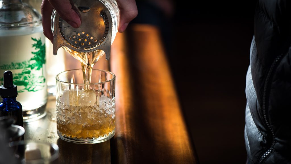 A half-ounce of Lac Coeur goes nicely in an old fashioned // Photo by Kevin Kramer, The Growler