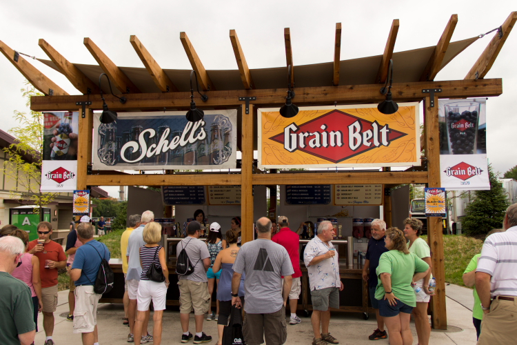 Schell's Booth, Minnesota State Fair 2014 // Photo by Brian Kaufenberg