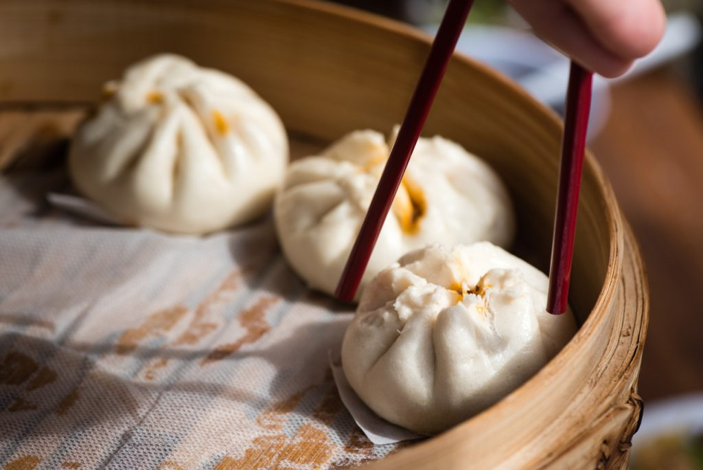 Chinese steamed buns from Mrs. Dumpling // Photo by Kevin Kramer, The Growler
