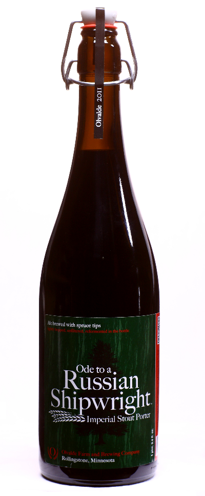 Olvalde Ode to a Russian Shipwright Imperial Stout Porter // Photo courtesy of Olvalde