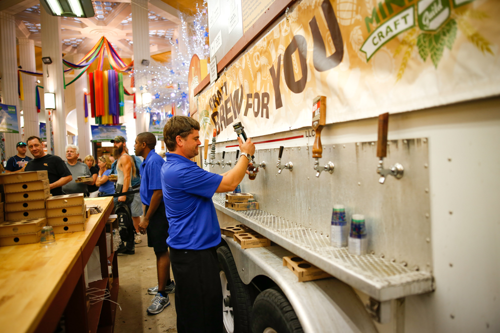 Land of 10,000 Beers exhibit at the Minnesota State Fair // Photo by Aaron Davidson