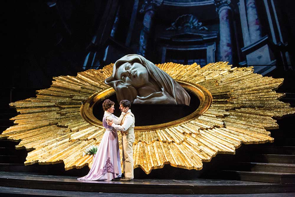 Kelly Kaduce (l) seen here in last season's Tosca, will return for Thais in 2018 // Photo courtesy of Minnesota Opera