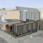 """Downtown Minneapolis """"brewtel"""" concept to include Finnegans brewery AUGUST 21, 2015 BY THE GROWLER 0 COMMENTS (EDIT) 19 kraus-anderson Kraus-Anderson's plan for its Elliot Park development, which will include a new Finnegans microbrewery // Courtesy ESG Architects via The Journal"""