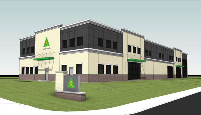 Rahr Malting pilot brewery technical center endering // Via Greystone Construction