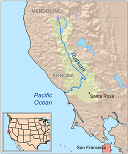Russian River Valley // Map courtesy of Wikipedia