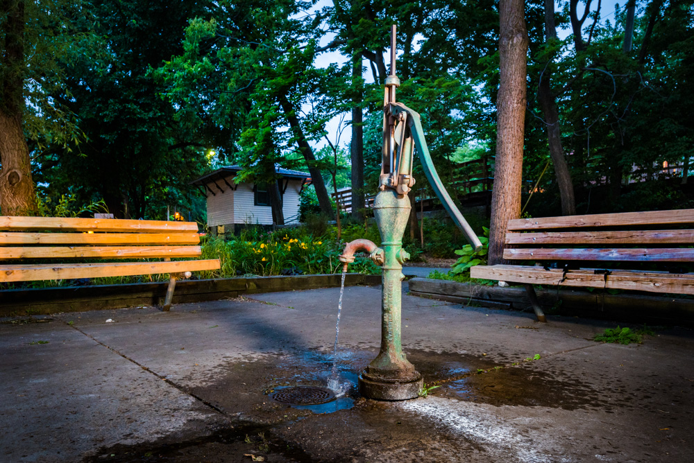 The water pump at Lake Harriet Trolley is just one of over two dozen pumps around Minneapolis // Photo by Kevin Kramer
