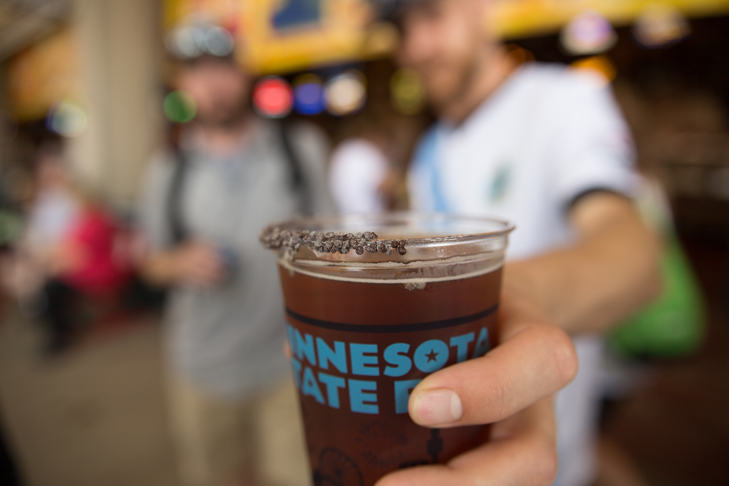 Big Wood's Chocolate Chip Cookie beer at Andy's Grille at the Minnesota State Fair // Photo by Aaron Davidson, The Growler