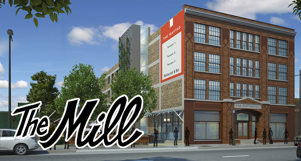 NOLO Kitchen & Bar is going into the Maytag Building in Minneapolis // Rendering by AWH Architects