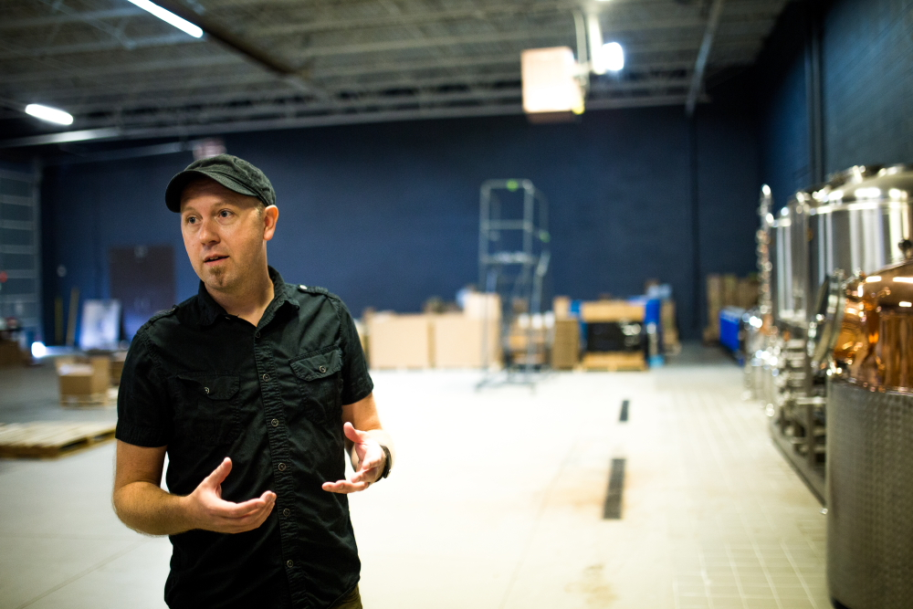 Lee Eggbert of Dashfire Bitters gives a tour of his Minnetonka facility // Photo by Aaron Davidson
