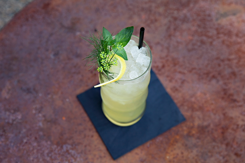The Garden Sling, a DIY cocktail at Lawless Distilling // Photo by Katie Cannon