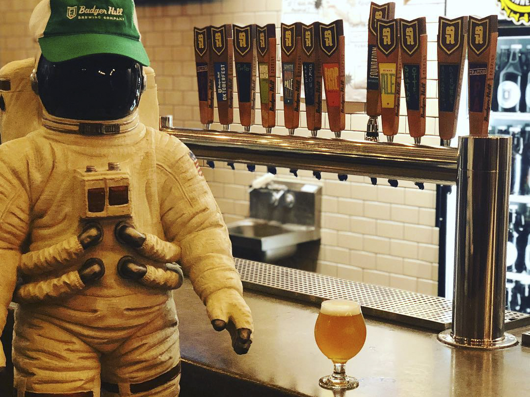 Badger Hill's Astronaut Brewer Double IPA // Photo via Badger Hill's Instagram