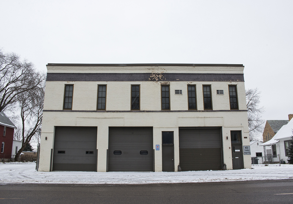 The defunct Station 10 St. Paul Fire House on Randolph