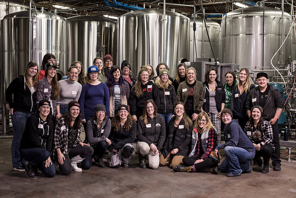 The Witch Hunt Brew Day 2018 crew at Surly Brewing Company's Brooklyn Park, Minnesota location on February 10, 2018. // Photo by Madalyn Rowell