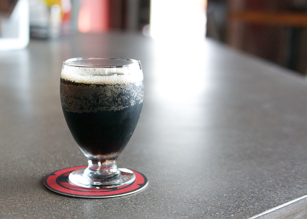 A tulip glass filled with Big Axe Brewing Company's Root Beer // Photo courtesy Big Axe Brewing Company