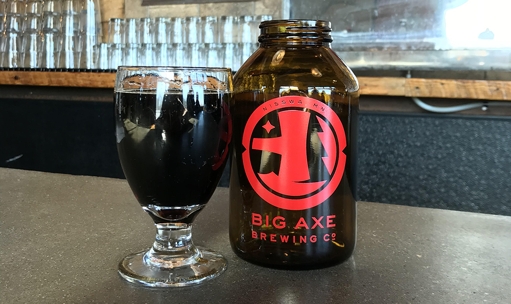 A glass of Big Axe Brewing Company's Root Beer in the brewery's taproom which is located in Nisswa, Minnesota // Photo courtesy Big Axe Brewing Company