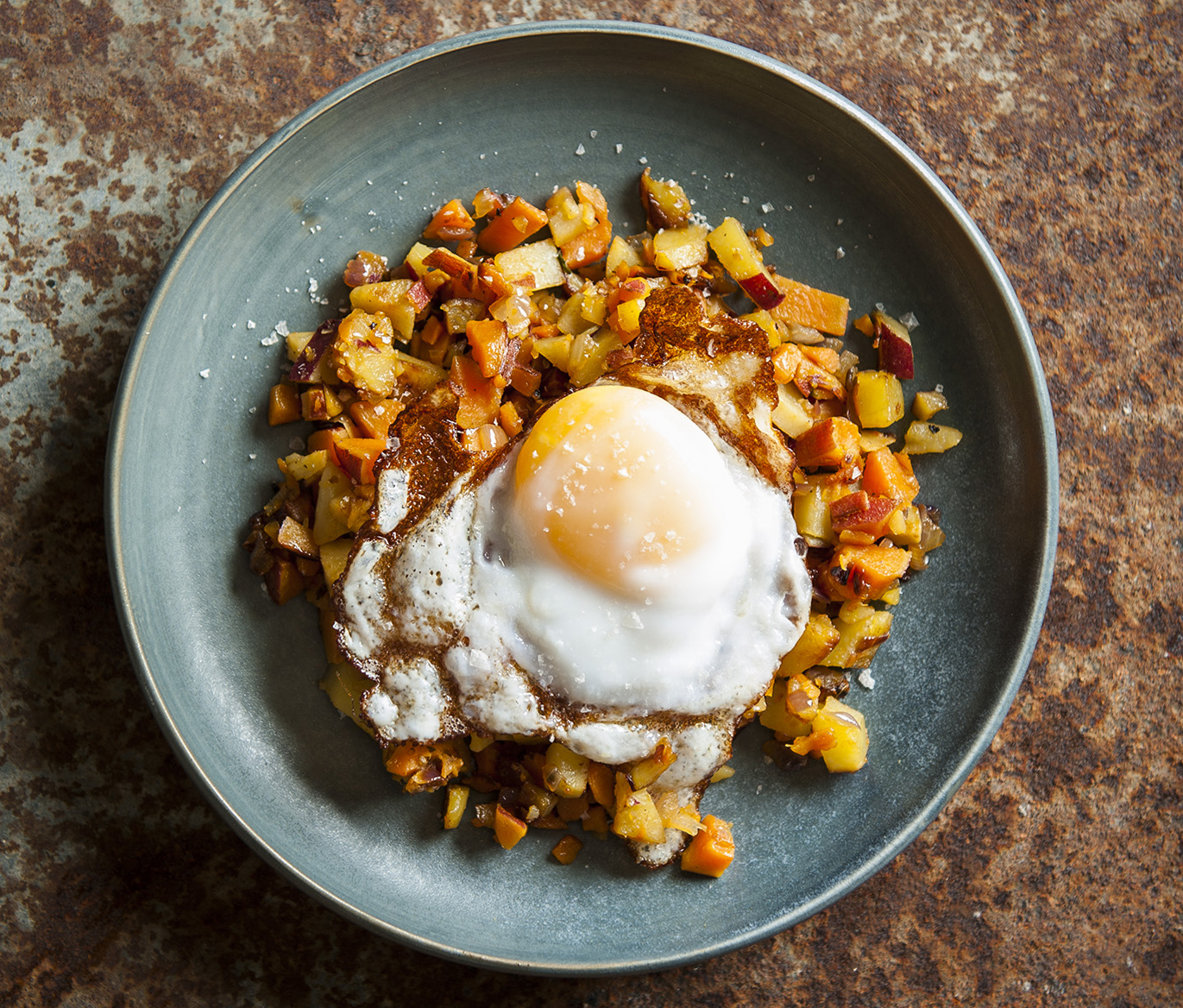 Hash and a fried egg // Photo by Matte Neilson